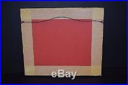 Vintage Abstract Mid Century Modern Helen Hery Enamel Copper Wall Art Plaque