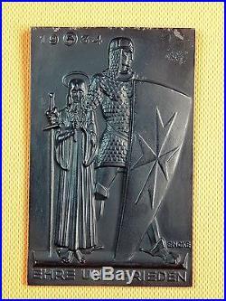 Vintage Antique German Germany Eberhard Encke 1881-1936 Metal Wall Plaque