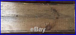 Vintage Antique Handmade Wooden Boat Half Hull Wall Plaque