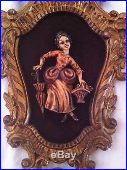 Vintage/Antique Rococo Gilt Italian 3D wall Plaque