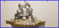 Vintage Apollo 11 Moon Landing Sexton Metal Wall Plaque