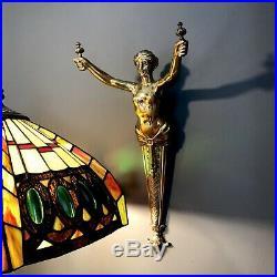 Vintage Art Deco Large brass mythology mermaid decorative wall Mounted figurine
