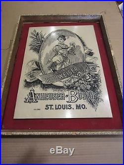 Vintage BUDWEISER Wall Plaque Sign, Numbered, Rare, Faux Marble, Etched