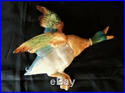 Vintage Beswick 596-0 BIG ONE & 596-1 Flying Ducks Wall Plaques Great Condition