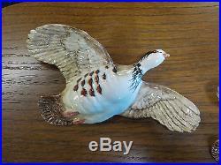 Vintage Beswick Set Of 3 Partridges Wall Plaque Flying Partridges (Birds) 1188