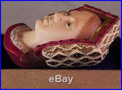 Vintage Bossons Chalkware England Catherine of Aragon Head Wall Plaque 1986