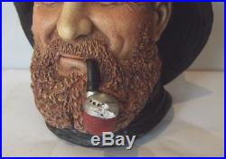 Vintage Bossons Clipper Captain Character Head Wall Plaque 1992 Signed
