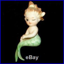 Vintage Bradley Mermaid Baby Trio Wall Plaque Set w Bubbles