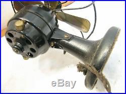 Vintage Brass Blade Gilbert Polar Cub Mini Electric Desk/Wall Fan Type G