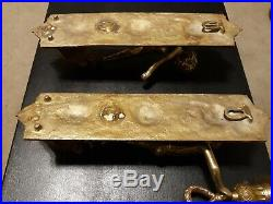 Vintage Brass Cherub Wall Sconce Candle Set of 2