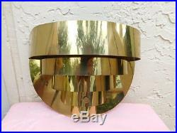 Vintage Brass Five Tier Ribbon Art Deco Style Wall Sconce