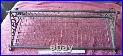 Vintage Brass NSWR Pullman Train Luggage Rack Shelf Railroad wall hat towel Coat