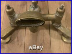 Vintage Brass Wall Mount Mixer Tap For Claw Foot Bath Tub Shower Faucet Salvage