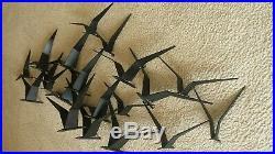 Vintage CURTIS JERE Metal WALL SCULPTURE Birds In Flight MCM Art MID CENTURY MOD
