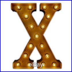 Vintage Carnival Fairground Rustic Metal Large Letter Lights A-Z & Symbols