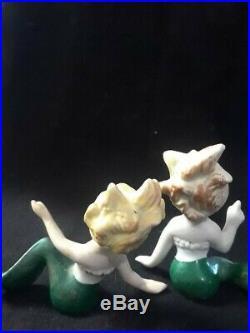 Vintage Ceramic MERBABY Mermaid Wall Plaque Japan Figurine