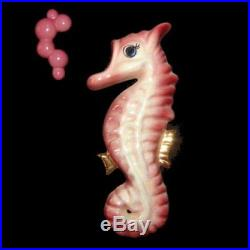 Vintage Ceramicraft Seahorse Wall Plaque for Mermaid and Fish Decor