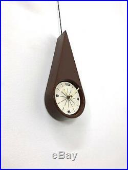 Vintage Charles Chaney Vohann Wall Clock Mid Century Modern George Nelson Era