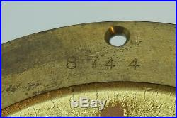 Vintage Chelsea Ships Clock 2 Pc Barometer Quartz Chronometer Brass Nautical