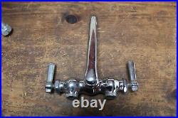 Vintage Chicago Faucet Co. Wall Mount, Chrome, Sink Faucet, Lever Handle