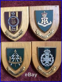 Vintage Collection Regimental Mess Wall Plaques Lot Of 8 Made In Great Britain