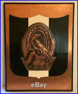 Vintage Collingwood Football Club 100 Years 1892 1992 Wall Plaque