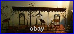 Vintage Curtis Jere Copper & Brass French Bistro Cafe Wall Art 23 x 46x 5 VG