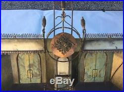Vintage Curtis Jere Metal Wall Sculpture Paris Theater Bicycle Scene