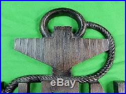 Vintage Custom Hand Made USN Navy Military Metal Large Wall Plaque Sign