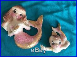 Vintage DeForest of California Mermaid and Baby Wall Plaque