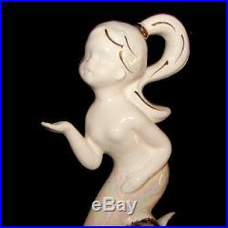Vintage ENESCO PIXIE FAIRY MERMAID Girl Ceramic Wall Plaque