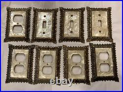 Vintage Edmar Mother Of Pearl Light Switch Plate Cover Socket Hollywood Regency