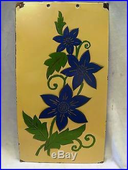 Vintage Enamel Porcelain Decorative Antique Wall Hanging Plate/sign/plaque Old