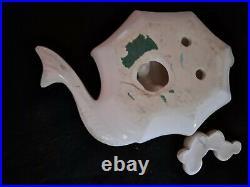 Vintage Enesco Ceramic Mermaid with Umbrellas and Bubbles Wall Plaque Figuri