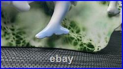 Vintage Enesco Mermaid Dolphin fish pocket planter wall plaque. RARE
