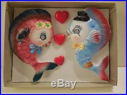 Vintage FISH Wall Plaque Hanging for Mermaid Decor Very Colorful EXCELLENT