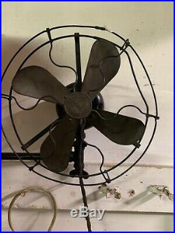 Vintage GE Wall Fan With Brass Blade