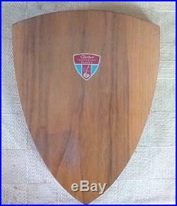 Vintage Gerber Legendary Blades Set of 5 Knives in Wooden Shield Wall Plaque