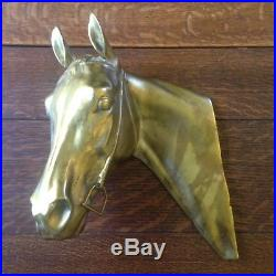 Vintage Gladys Brown Edwards Horse Head Relief Sculpture Wall Or Table Plaque
