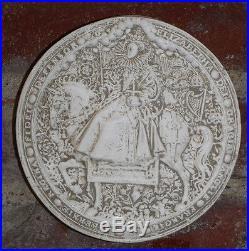 Vintage Great Seal of Realm United Kingdom Queen Elizabeth I Wall Plaque RARE UK