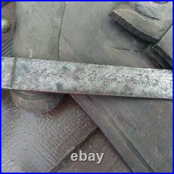 Vintage Hand Carved Spanish Medieval Decor Coat of Arms Artesania Sefarad Swords