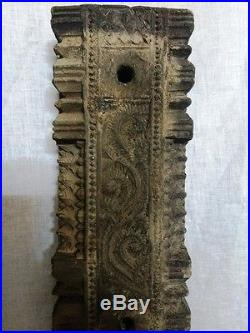Vintage Hand Floral Carved Wall Corbel Wooden Beam Antique Art Decor DOOR Plaque
