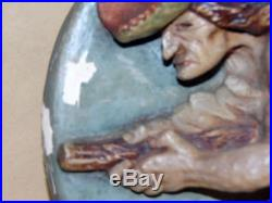 Vintage Hand-painted Wall Plaque Pendelfin Pendle Witch Jean Walmsley Heap