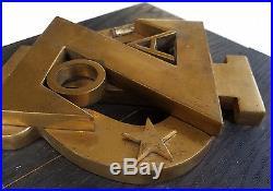 Vintage Heavy Bronze 3D Wall Plaque/Sculpture For a Fraternal Order/Organization