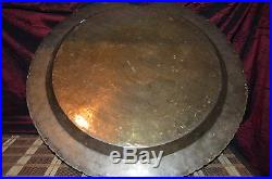 Vintage Hong Kong Asian Brass Serving Tray, Wall Plaque, Table Top 22