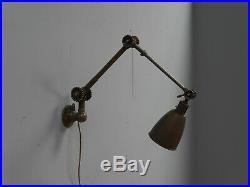 Vintage Industrial Antique Brass Dugdills Daisy Lamp Light Machinist Work Wall
