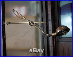 Vintage Industrial Brass Wall Lamp Articulating Brass Swivel Wall Shade Lamp