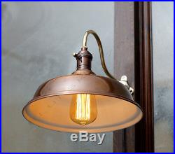 Vintage Industrial Wall Sconce Lamp Retro Machine Age Lamp with 10.5 Shade