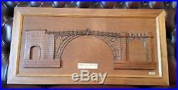 Vintage Iron Bridge Shropshire Handmade Model Wall Hanging Plaque MUST SEE