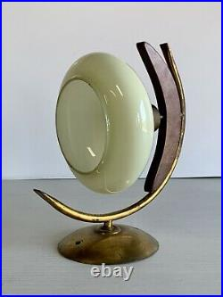 Vintage Italian Brass Wall Sconce Lamp Light Fixture MCM